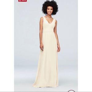 NWT David's Bridal Ivory Bridesmaid Dress #F19938